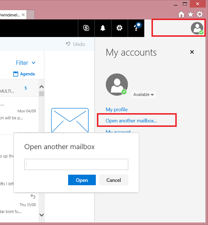 Open Mailbox having Send-As Permissions